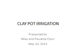 CLAY POT IRRIGATION