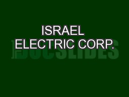 ISRAEL ELECTRIC CORP. PowerPoint PPT Presentation