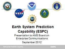 Earth System Prediction Capability (ESPC)