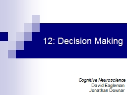 12 : Decision Making