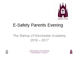 E-Safety Parents Evening