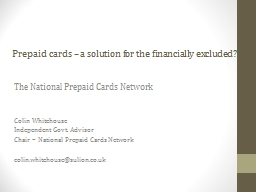 Prepaid cards PowerPoint PPT Presentation
