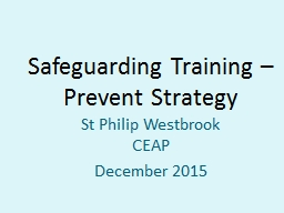 Safeguarding Training – Prevent Strategy PowerPoint PPT Presentation