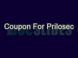 Coupon For Prilosec