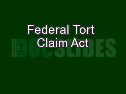Federal Tort Claim Act