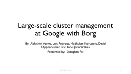 Large-scale cluster management at Google with Borg