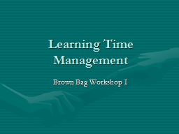 Learning Time Management