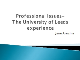 Professional Issues-