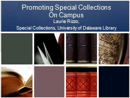 Promoting Special Collections
