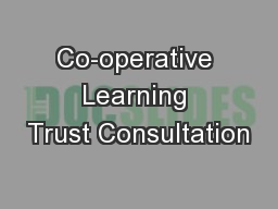 Co-operative Learning Trust Consultation
