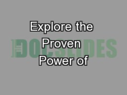 Explore the Proven Power of PowerPoint PPT Presentation