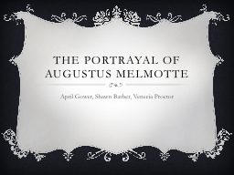 The portrayal of Augustus