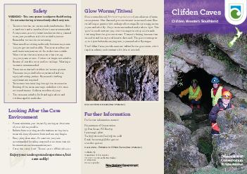 Glow wormtitiwai threads Dawn Patterson Published by Department of Conservation PO Box  Invercargill New Zealand October  Crown copyright Cover photo  Entrance to Clifden Caves Dawn Patterson Safety W