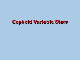 Cepheid Variable Stars