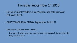 Thursday September 1