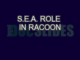 S.E.A. ROLE IN RACOON
