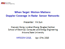 When Target Motion Matters: PowerPoint PPT Presentation