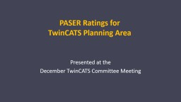 PASER Ratings for