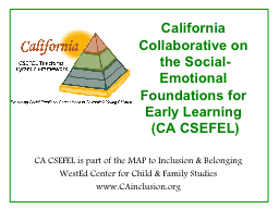 California Collaborative on the Social-Emotional Foundation