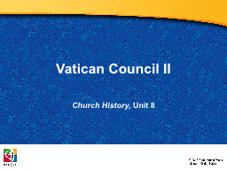 Vatican Council II PowerPoint PPT Presentation