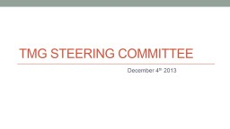 TMG Steering Committee
