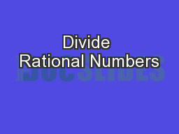 Divide Rational Numbers