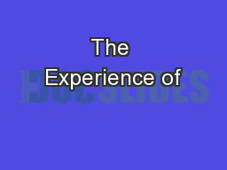 The Experience of