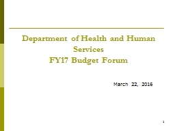 1 Department of Health and Human Services
