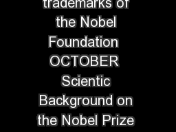 Nobel Prize and the Nobel Prize medal design mark are registrated trademarks of the Nobel Foundation  OCTOBER  Scientic Background on the Nobel Prize in Chemistry  DEVELOPMENT OF MULTISCALE MODELS FOR