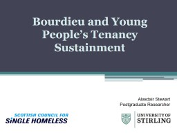 Bourdieu and Young People's Tenancy Sustainment