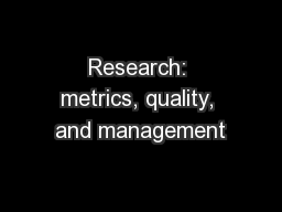 a research on quality management Warwick institute for employment research - quality management.