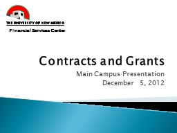 Contracts and Grants PowerPoint PPT Presentation