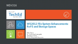 WS2012 File System Enhancements:
