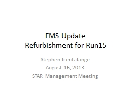 FMS Update PowerPoint PPT Presentation