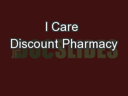 I Care Discount Pharmacy