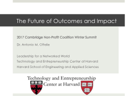 The Future of Outcomes and Impact