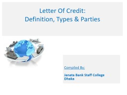 Letter Of Credit: PowerPoint PPT Presentation