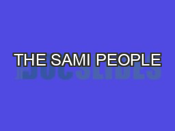 THE SAMI PEOPLE PowerPoint PPT Presentation