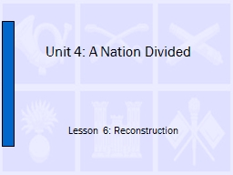Unit 4: A Nation Divided