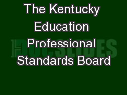 The Kentucky Education Professional Standards Board