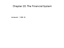 Chapter 20. The Financial System