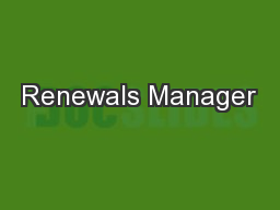 Renewals Manager