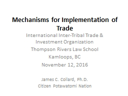 Mechanisms for Implementation of  Trade PowerPoint PPT Presentation