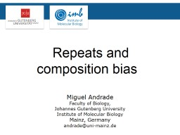 Repeats and composition bias