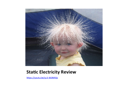 Static Electricity Review