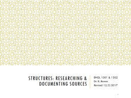 Structures: Researching & Documenting Sources