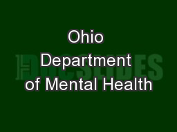 Ohio Department of Mental Health