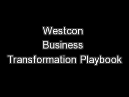 Westcon Business Transformation Playbook