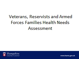 Veterans, Reservists and Armed Forces Families Health Nee