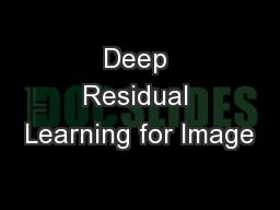 Deep Residual Learning for Image